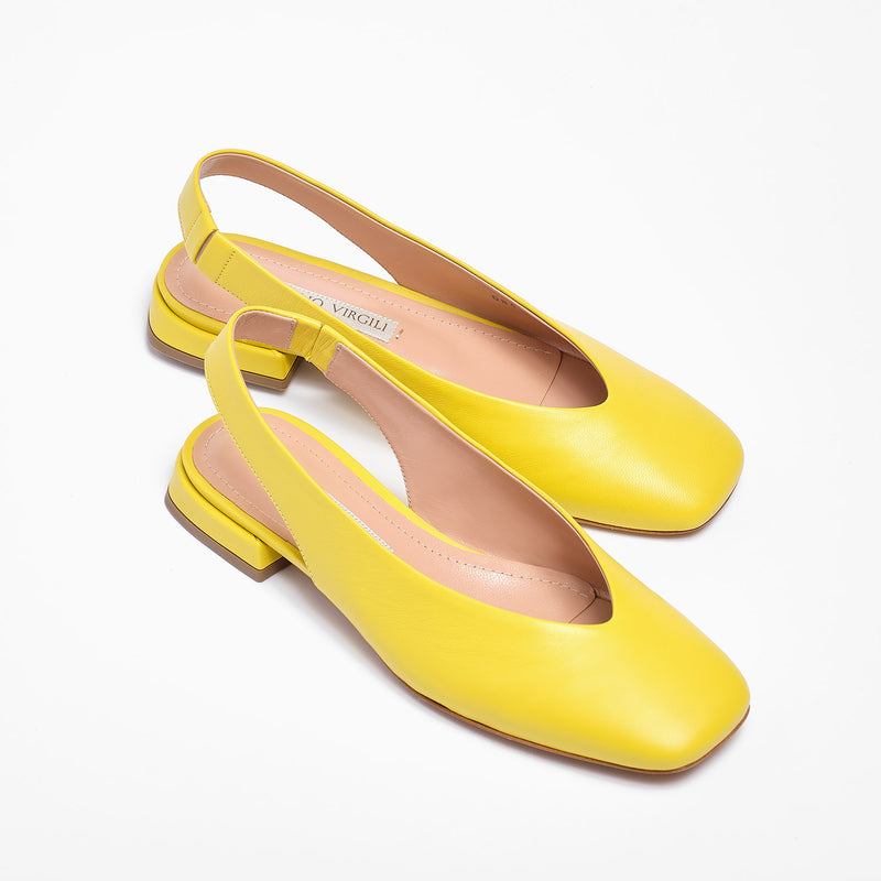 Kate Slingback Nappa Leather Yellow