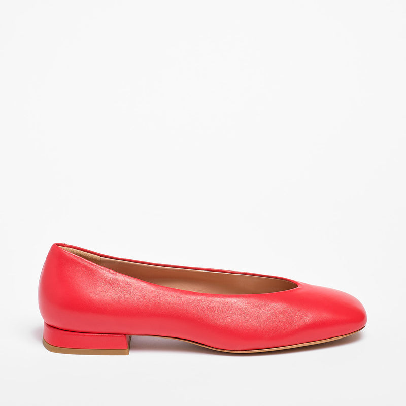 Kaia  Ballet Flat Nappa Leather Red