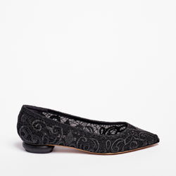 Grace  Ballet Flat Crochet Black