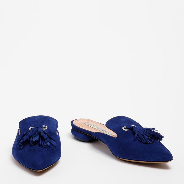Liv Mule Suede China blue