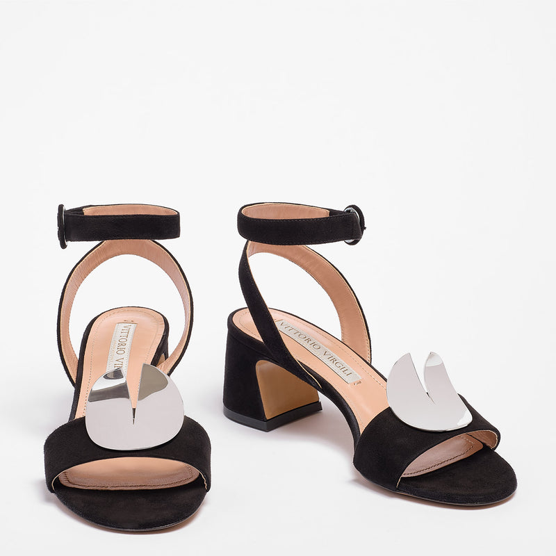 Kelly Sandal  Suede Black
