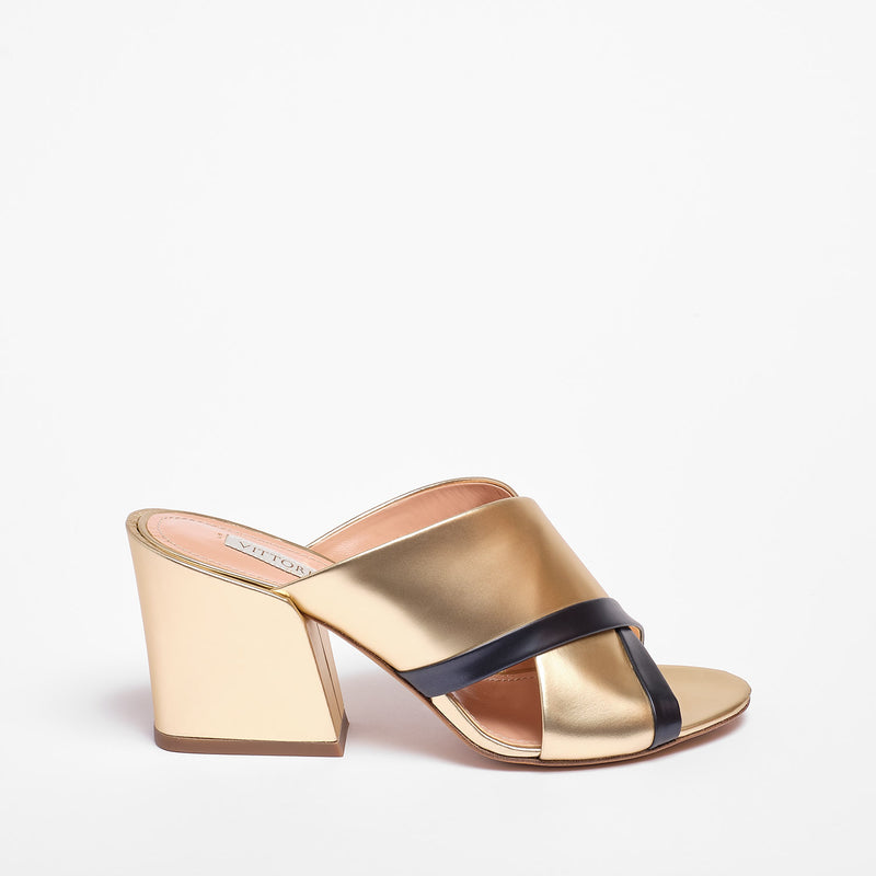 Judie Mule Metallic leather Gold