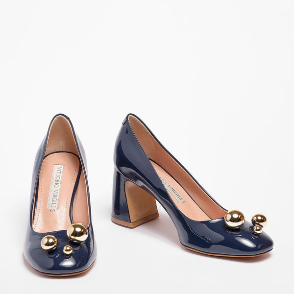 Natalie Décolleté Patent leather Blue