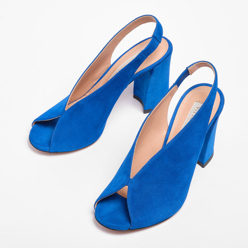 Julien Sandal  Suede Bright blue