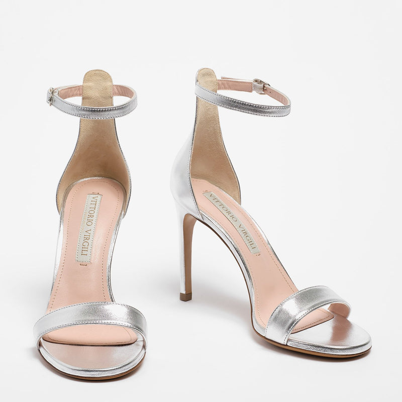 Nicole Sandal Nappa Leather Silver