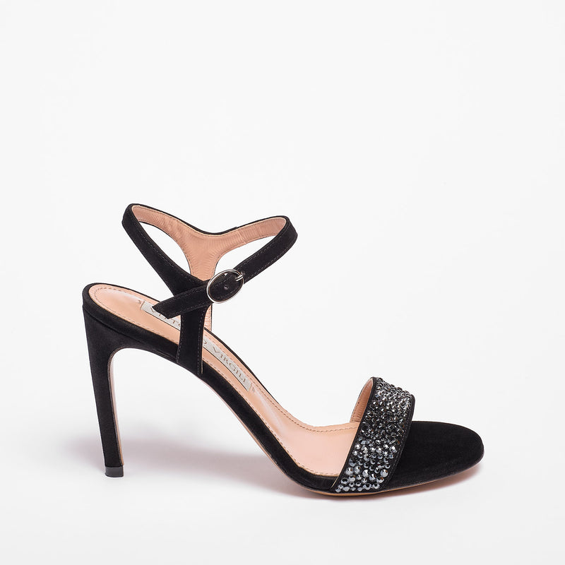 Lisa Sandal Suede Black