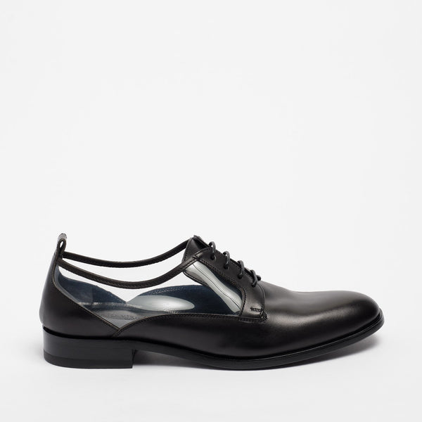 Naomi Brogue Nappa Leather Black