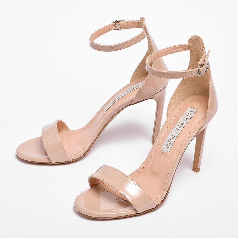 Nicole Sandal Patent leather Blush pink