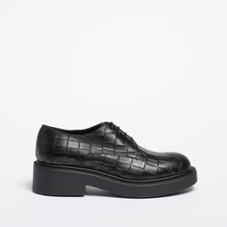 Tina Derby black crocodile-print