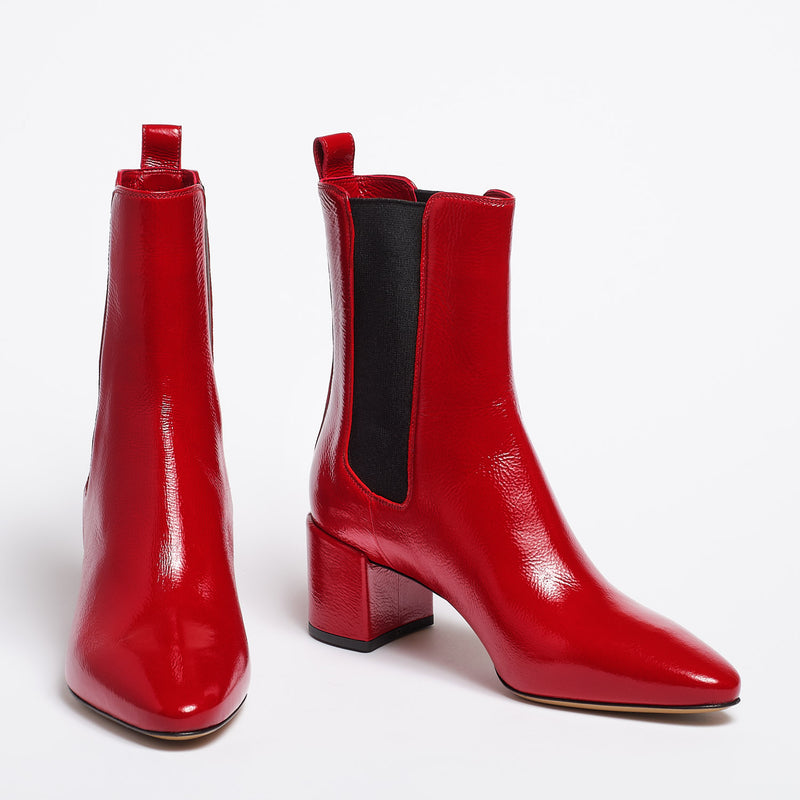 Meg ankle boot red