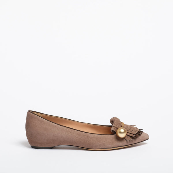 Margherita Ballet flat taupe and mocha