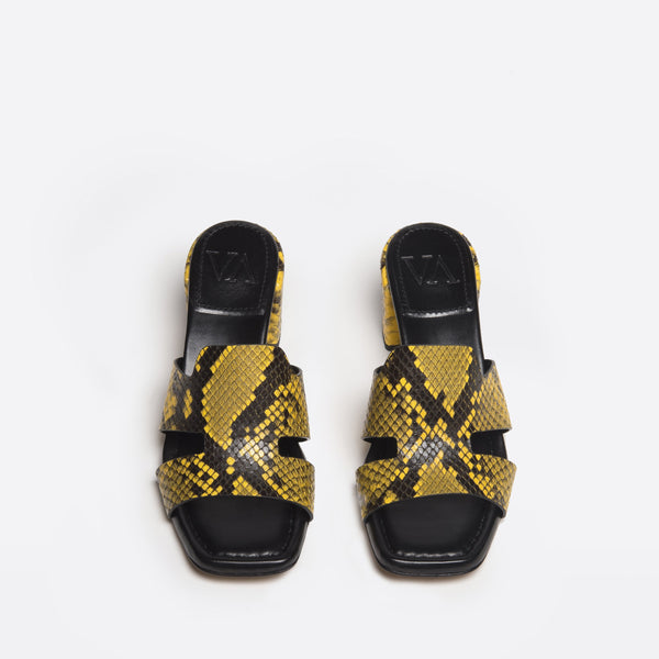 Sylvia slip-on python- effect calf yellow-black