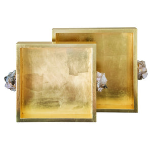 Gold Square Trays