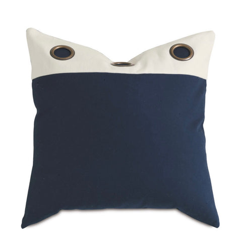 Decorative Pillow- Navy with Grommet