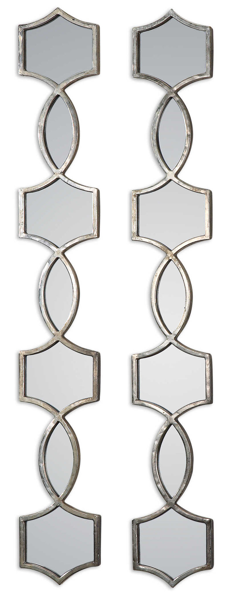 Metal Finished Decorative Mirror- Set of 2