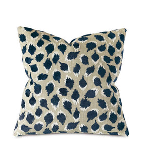Decorative Pillow- Ocelot in Navy