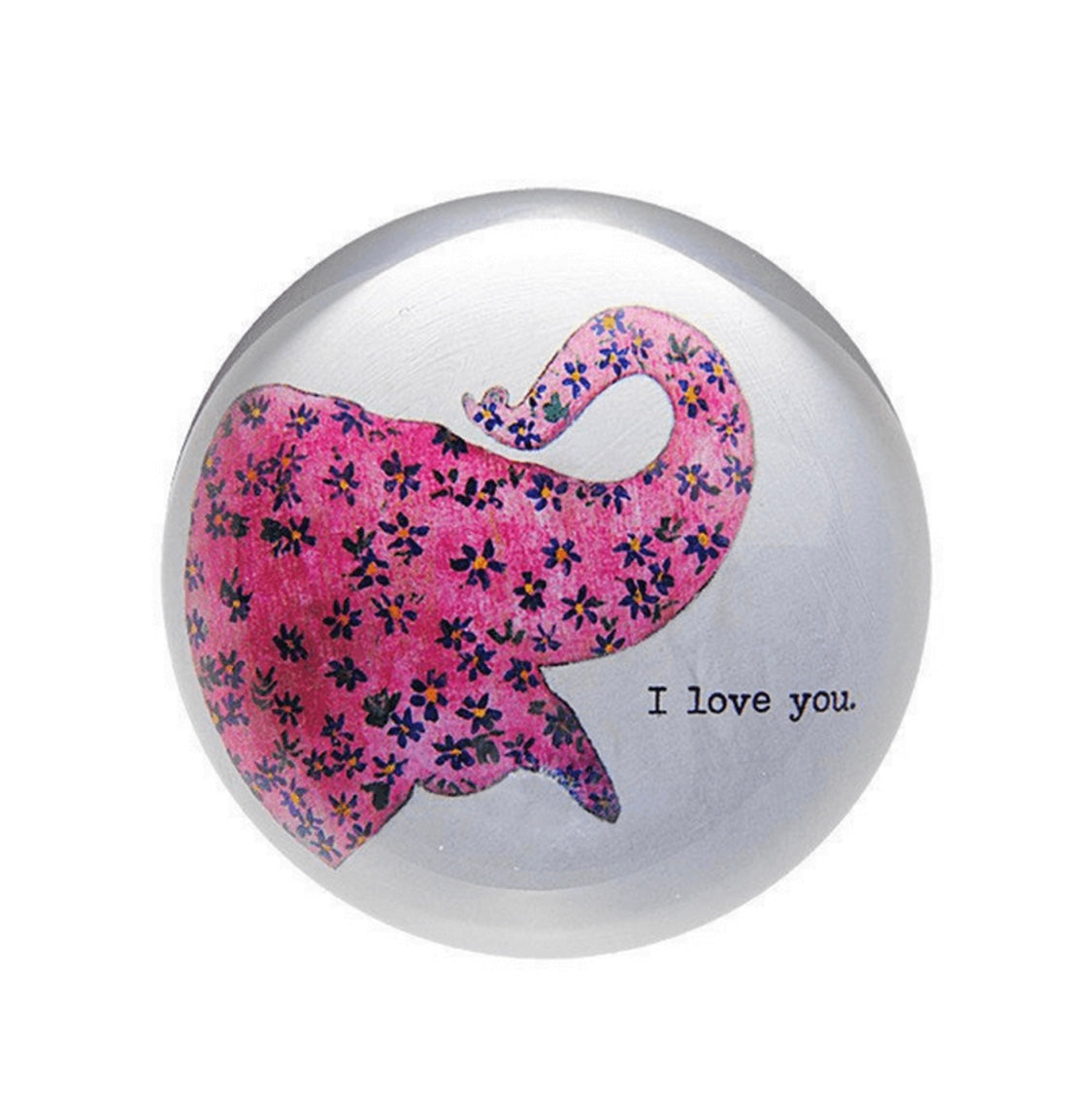 Paperweight- Pink Elephant