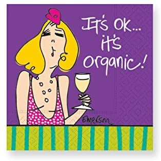 Whimsical Cocktail Napkins - It's Ok... It's Organic