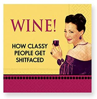 Whimsical Cocktail Napkins- Classy People