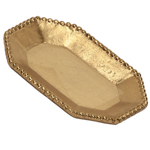 Gold Beaded Tray