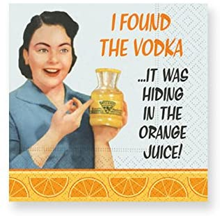 Whimsical Cocktail Napkins- In the Orange Juice