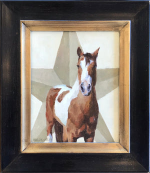 STAR horse painting. SOLD