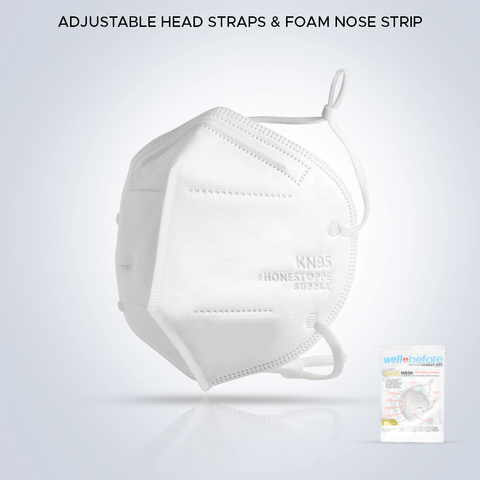 Well Before (Honest PPE Supply) Adjustable Head Straps & Foam Nose Strip