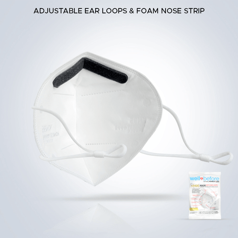 Well Before (Honest PPE Supply) Adjustable Ear Loops & Foam Nose Strip