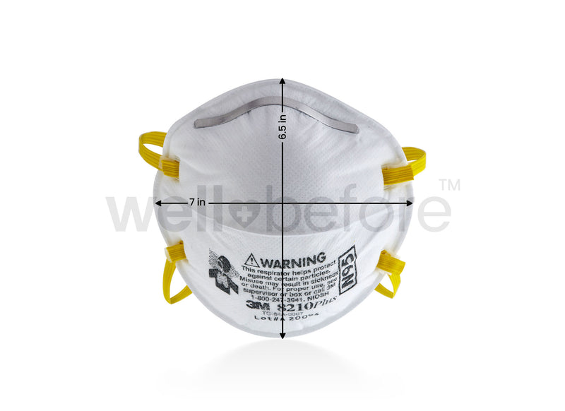 3M™ 8210 Plus N95 Respirator Masks - NIOSH Approved