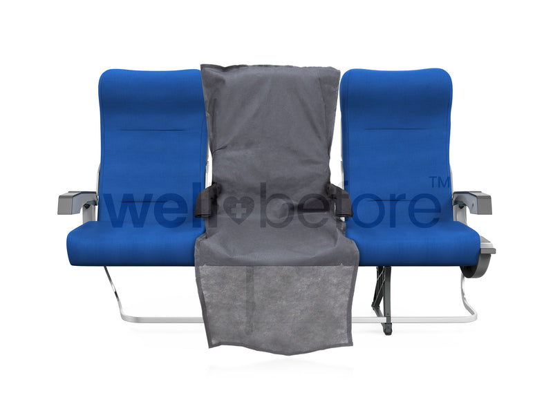 WellBefore Disposable Aircraft Seat, Armrest & Tray Table Cover