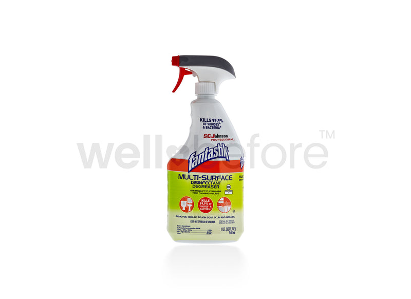 SC Johnson Fantastik Multi-Surface Cleaner & Disinfectant Spray Bottle