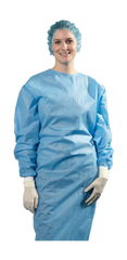 Disposable Nonsurgical Isolation Gown - AAMI Level 3 - Knitted Cuffs