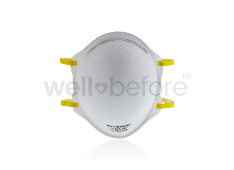 Makrite 9500 N95 Respirator Surgical Masks - FDA Cleared NIOSH Approved
