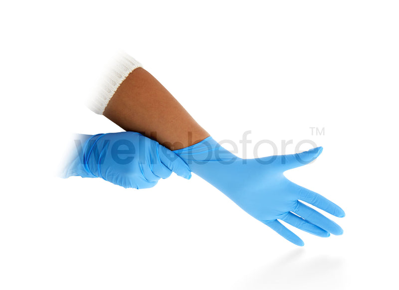 Nitrile Blend Gloves Powder Free - 4mm Thickness