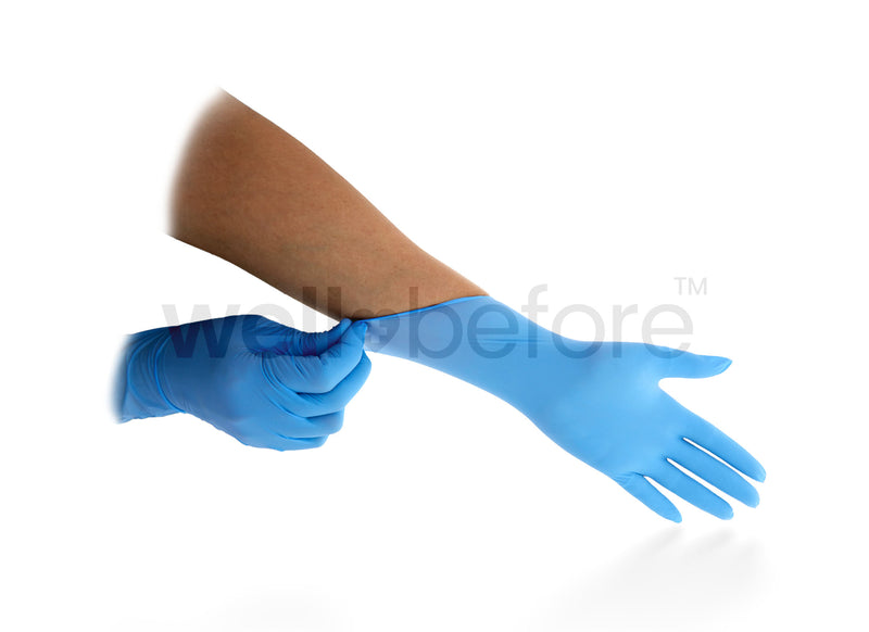Examination Nitrile Gloves - Powder Free - 100/box