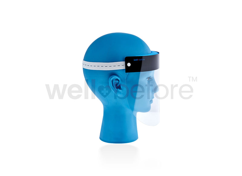 WellBefore Adjustable Face Shield - Extra Coverage Width & Height