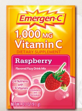 Emergen-C® Raspberry Oral Supplement, 0.3 oz. Individual Packet