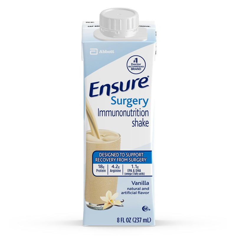 Ensure® Surgery Immunonutrition Shake Vanilla Oral Supplement, 8 oz. Carton