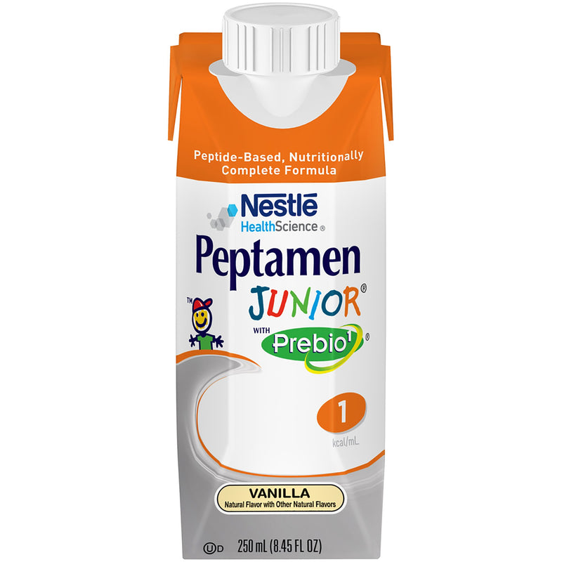 Peptamen Junior® with Prebio¹™ Vanilla Pediatric Oral Supplement / Tube Feeding Formula, 8.45 oz. Tetra Prisma®