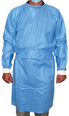 Disposable Isolation Gown - Level 1 Non-Woven White Cuffs Default