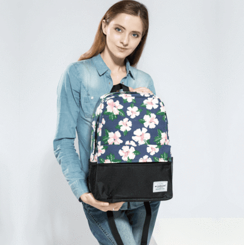 Stylish Women Backpack with Floral Print