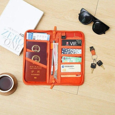 Space-saving Travel Pouch for Passport and Important Belongings