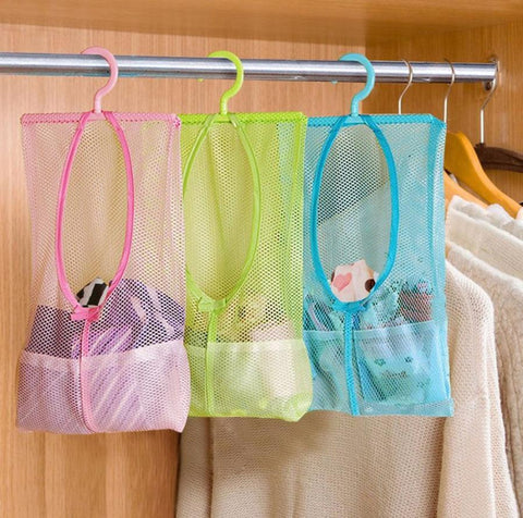 Hanging Bathroom Mesh Bag Organizer