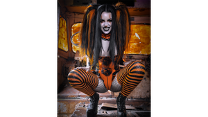 """Carnevil"" - Trixy Treats 8x10 Signed Print"