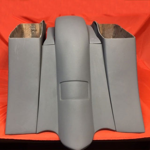 """Honda VTX 1300/1800 6"""" Down & Out Stretched Saddlebags – Bolt On"""