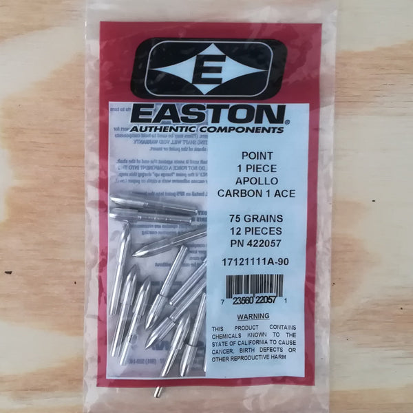 Easton 1 Piece Arrow Points - 75 Grains (Dozen)