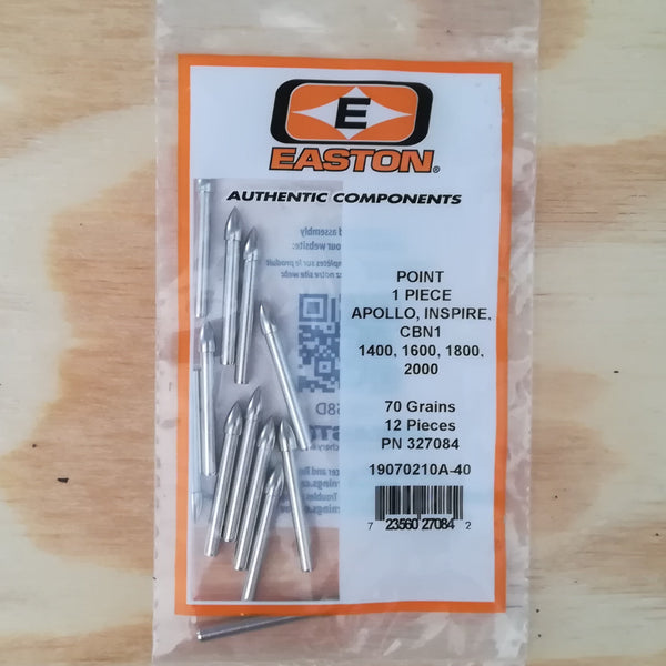 Easton (1 piece) Apollo Arrow Points - 70 Grain (Dozen)