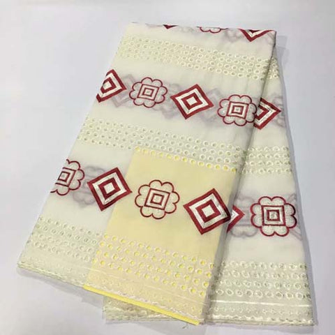 Image of 100% Cotton Swiss Voile African Lace Fabrics With Cut hole High Quality African Swiss Voile Lace In Switzerland Fabric