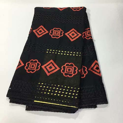 100% Cotton Swiss Voile African Lace Fabrics With Cut hole High Quality African Swiss Voile Lace In Switzerland Fabric