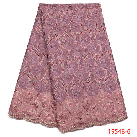 Image of 100% Soft Cotton Voile Lace Swiss Lace Latest High Quality Swiss Voile Laces in Switzerland For Wedding Dress NA1954B-1